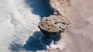 Raikoke Volcano on the Kuril Islands erupted on June 2, 2019, sending a huge ash cloud high into the atmosphere.