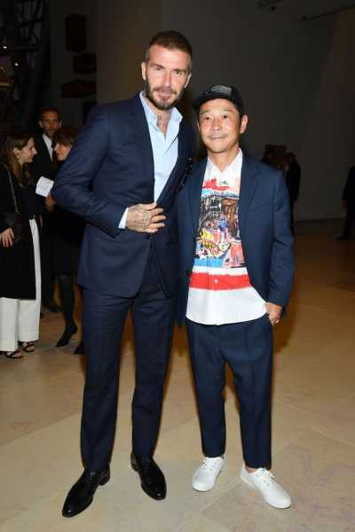 Yusaku with David Beckham