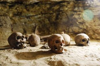 Several skulls were found in the burial ground. These would likely be from mummies that have not survived intact.