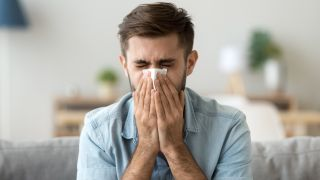 If you think you have COVID-19, be extra careful to wash your hands after blowing your nose or coughing/sneezing.