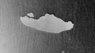 A satellite view of iceberg A-68